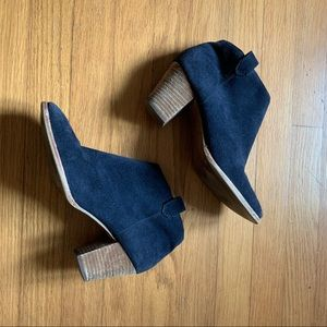 Madewell Blue Suede Billie Boots